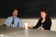 Veteran TV Journalist Magee Hickey Talks With Journalism, Communication, and Theatre Students