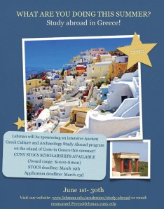 Lehman's Study Abroad Program Goes to Crete this Summer