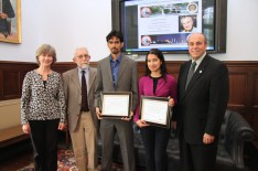 Physics Students Receive Departmental Awards