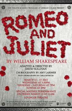 Theatre and Dance Programs to Present New Production of Shakespeare's 'Romeo & Juliet' March 13-17