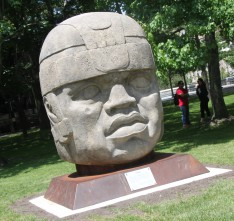 Replica Olmec Head of 'The King' Moves to Lehman