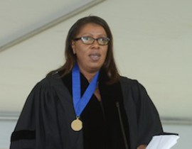 "NYC Public Advocate Letitia James to the Class of 2014: ""Your Degree Requires That You Set Your Own Course"""