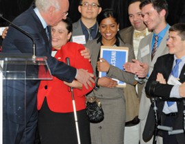 Four Lehman Students with Disabilities Get a Little Tuition Help from Former CUNY Chancellor
