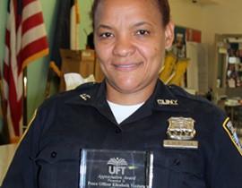 Lehman Peace Officer Awarded UFT Appreciation Award