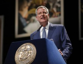 """Mayor de Blasio Delivers """"One New York""""  State of the City Address at Lehman"""