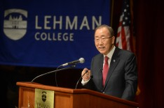 United Nations Secretary-General Ban Ki-moon Delivers 2016 Lehman Lecture