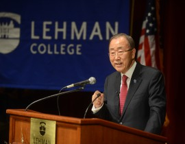 United Nations Secretary-General Ban Ki-moon Delivers 2016 Lehman Lecture