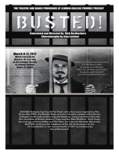 BUSTED! An Original Theatre Piece—Now Playing at the Lovinger