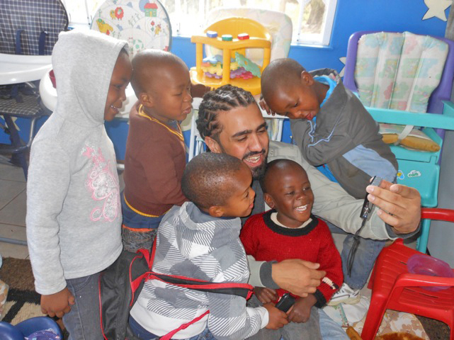 South Africa: David Benito and Kids at Nkosi's Haven