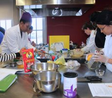 In the Lehman College Kitchen Lab Students Unlock the Art and Science of Cooking.