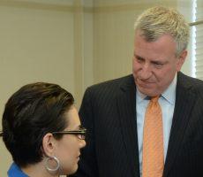 Mayor Bill de Blasio visited Lehman College's Nursing Simulation Lab and announced an overhaul of workforce development programs.