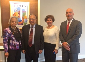 Dr. Vijaya Melnick, H.E. Ambassador Anwarul Chowdhury, Dr. Sorosh Roshan, and Dr. William Latimer