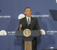 President Barack Obama visited Lehman College today to announce the formation of the My Brother's Keeper Alliance, a new independent nonprofit foundation that aims to address opportunity gaps among minority boys and young men.