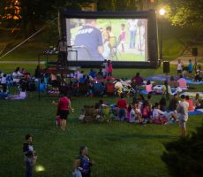 Underneath the setting sun and emerging moon, families and friends from the surrounding community gathered on the Lehman quad for a screening of the 1985 adventure classic The Goonies on July 18. Despite a rocky start—the screen fell down at one point and the power failed, leading to a very late start —all who attended deemed the night a success.