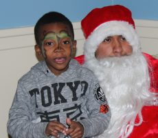 The second annual Acacia holiday party for children living in New York City transitional housing was held at Lehman College on Monday.