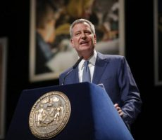 "Mayor Bill De Blasio, delivered his third State of the City address at the Lehman Center for the Performing Arts on February 4th,  promoting a vision of ""One New York."