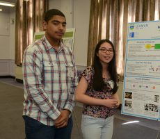 Lila Rose and Anil Oza from the High School of American Studies at Lehman College, won this year's Bronx SciFest.