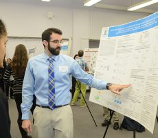 The path to an undergraduate degree majoring in biochemistry has been anything but typical or easy for Lehman junior, George Maio. The 29-year old graduated in 2009 from Saint Thomas Aquinas College in Rockland County with a degree in marketing. After several years in the marketing and advertising industries, he realized he wanted a career in the sciences, and came to Lehman in 2013.