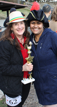 Turkey Trot photo of staff and award