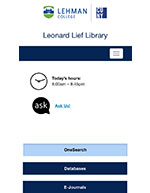 New Library Website mobile view